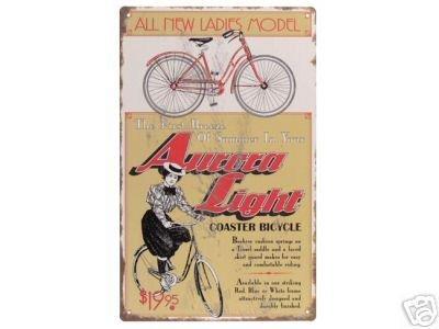 VINTAGE STYLE AURORA BICYCLE TIN SIGN B