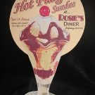 HOT FUDGE SUNDAE DIE CUT RETRO DINER SIGN CAFE AD SIGNS
