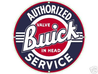 AUTHORIZED BUICK SERVICE PORCELAIN SIGN CAR METAL SIGNS