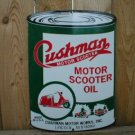CUSHMAN MOTOR SCOOTER OIL SIGN METAL ADV SIGNS C
