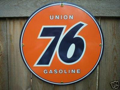 UNION 76 GASOLINE PORCELAIN SIGN GAS & OIL METAL SIGNS