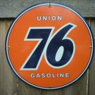 UNION 76 GASOLINE PORCELAIN SIGN GAS & OIL METAL SIGNS