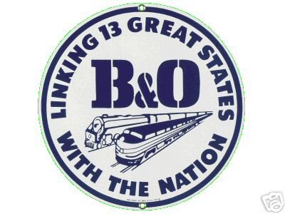 B&O RAILROAD PORCELAIN-OVERLAY SIGN METAL SIGNS R