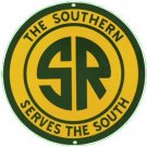 SOUTHERN RAILROAD PORCELAIN-OVERLAY SIGN METAL SIGNS S