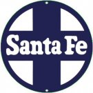 SANTE FE PORCELAIN-OVERLAY SIGN METAL ADV SIGNS S