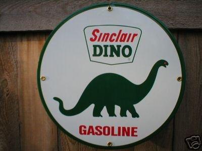SINCLAIR DINO GASOLINE PORCELAIN SIGN METAL GAS SIGNS S