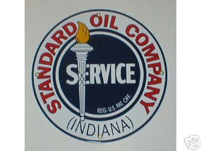 STANDARD OIL SERVICE SIGN GAS OIL ADV PORCELAIN SIGNS S