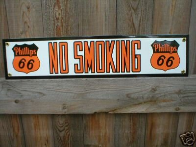 PHILLIPS 66 PORCELAIN-COATED SIGN METAL ADV AD SIGNS P