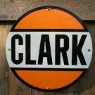 CLARK PORCELAIN GASOLINE SIGN METAL GAS & OIL SIGNS C
