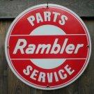 RAMBLER PARTS SERVICE PORCELAIN SIGN METAL ADV SIGN R