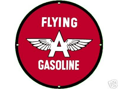 FLYING A GASOLINE PORCELAIN SIGN GAS & OIL METAL SIGNS