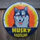 HUSKY GASOLINE PORCELAIN SIGN METAL GAS STATION SIGNS