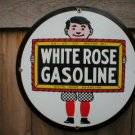 WHITE ROSE GASOLINE SIGN GAS OIL STATION ADV AD SIGNS W