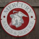 MERCURY SALES & SERVICE PORCELAIN COAT SIGN METAL SIGNS