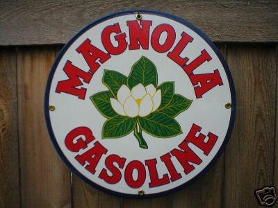 MAGNOLIA GASOLINE PORCELAIN SIGN GAS & OIL METAL SIGNS
