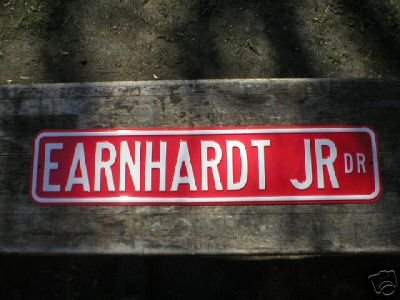 LARGE EARNHARDT JR DR SIGN METAL RACING ADV SIGNS E