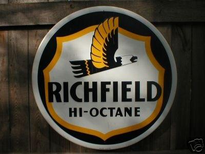LG RICHFIELD HI-OCTANE TIN SIGN METAL ADV AD SIGNS R