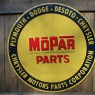 LARGE MOPAR PARTS ROUND TIN SIGN 24""