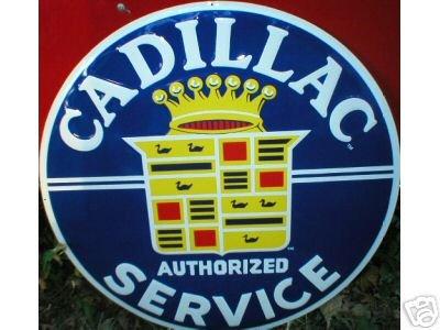 LG CADILLAC TIN SIGN METAL GAS OIL CAR ADV SIGNS C
