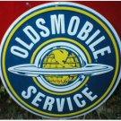 LG OLDSMOBILE TIN SIGN METAL GAS OIL CAR ADV SIGNS O
