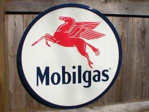 MOBILGAS TIN SIGN w/PEGASUS RETRO METAL ADV AD SIGNS P