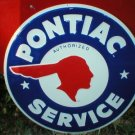 PONTIAC SERVICE TIN METAL SIGN