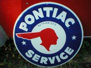 PONTIAC SERVICE TIN METAL SIGN