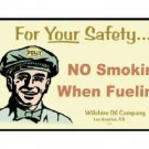 POLLY NO SMOKING WHEN FUELING TIN SIGN METAL ADV SIGNS