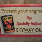 SKYWAY MOTOR OIL SIGN GAS STATION ADV SIGNS S