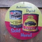 AUTOMOTIVE PAINTS SOLD HERE SIGN AUTO CAR ADV SIGNS S