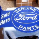 GENUINE FORD PARTS FLANGE SIGN METAL ADV AD SIGNS F