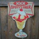 SPIFFY'S DINER DIE CUT RETRO DINER SIGN CAFE ADV SIGNS