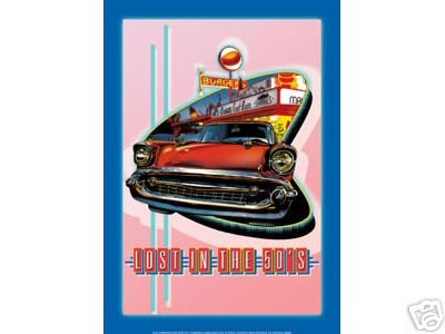 LOST IN THE 50'S 57 CHEVROLET TIN SIGN METAL ADV SIGNS