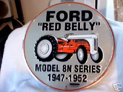 FORD RED BELLY SIGN METAL TRACTOR ADV SIGNS F
