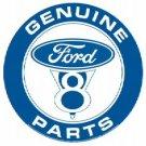 FORD V8 ROUND TIN SIGN METAL ADV CAR SIGNS F
