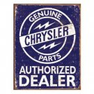 GENUINE CHRYSLER PARTS TIN SIGN METAL ADV AD SIGNS C