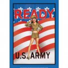 READY US ARMY TIN SIGN METAL ADV AD SIGNS A
