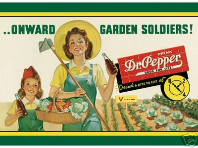 DR. PEPPER GARDEN SOLDIERS TIN SIGN METAL RETRO SIGNS D