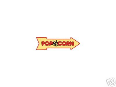 POPCORN ARROW RETRO TIN SIGN METAL ADV AD SIGNS P