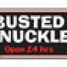 BUSTED KNUCKLE ARROW RETRO TIN SIGN METAL ADV AD SIGNS