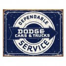 DODGE DEPENDABLE SERVICE SIGN CAR ADV METAL SIGNS D