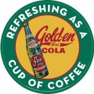 SUN-DROP GOLDEN GIRL COLA TIN SIGN METAL ADV AD SIGNS S