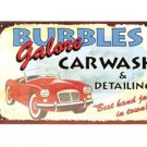 BUBBLES CAR WASH TIN SIGN DECORATIVE METAL ADV SIGNS C