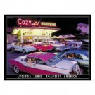 COZY DRIVE-IN SIGN METAL ADV CAR AD SIGNS D