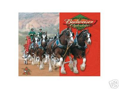 BUDWEISER CLYDESDALES TIN SIGN BEER HOME BAR PUB SIGNS