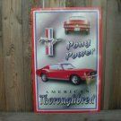 PONY POWER AMERICAN MUSTANG TIN SIGN METAL ADV SIGNS M