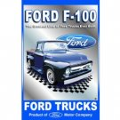FORD F-100 TIN TRUCK SIGN METAL POSTER ADV AD SIGNS F