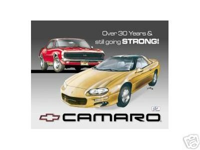 CHEVY CAMARO TRIBUTE TIN SIGN RETRO METAL SIGNS C