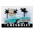 CHEVY CONVERTIBLE BEL AIR TIN SIGN RETRO METAL SIGNS C