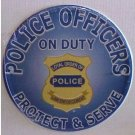 POLICE OFFICERS ON DUTY TIN SIGN METAL POLICEMAN SIGNS